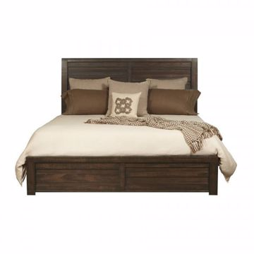 Picture of RUFF HEWN QUEEN PANEL BED