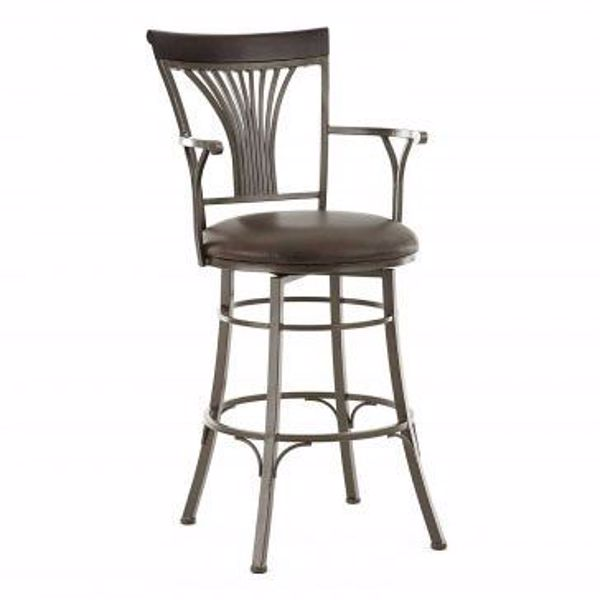 "Picture of BARTSTOOL 30"" W/ARMS"