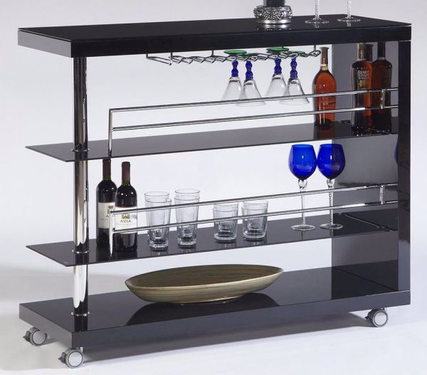 Picture of BLACK TEMPERED GLASS BAR