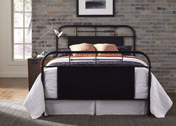 Picture of VINTAGE BLACK KING METAL BED
