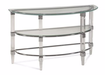 Picture of CRISTAL DEMILUNE CONSOLE TABLE
