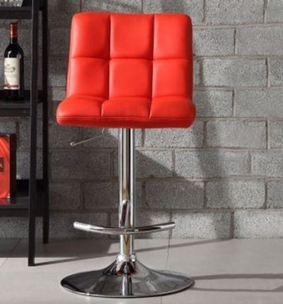 Picture of RED BONDED SWIVEL STOOL
