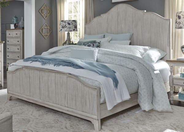 Picture of FARMHOUSE KING PANEL BED