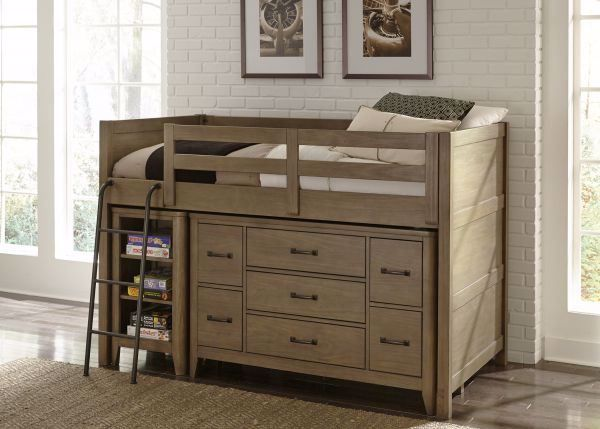 best service 5edd8 09abf COTTONWOOD TWIN LOW LOFT BED