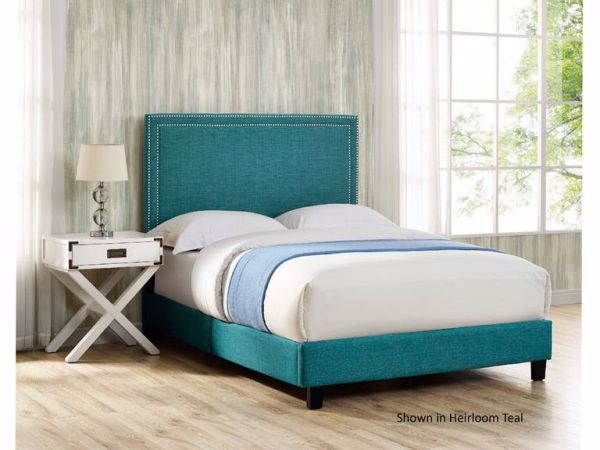 Picture of ERICA QUEEN BED IN A BOX TEAL