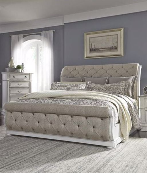Upholstered sleigh bed frame Cream Picture Of Abbey Park King Upholstered Sleigh Bed Hurwitz Mintz Abbey Park King Upholstered Sleigh Bed