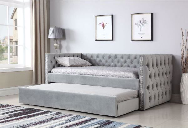 Picture of PAIGE UPHOLSTERED DAYBED WITH TRUNDLE