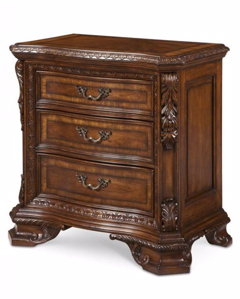 Picture of OLD WORLD BEDSIDE CHEST