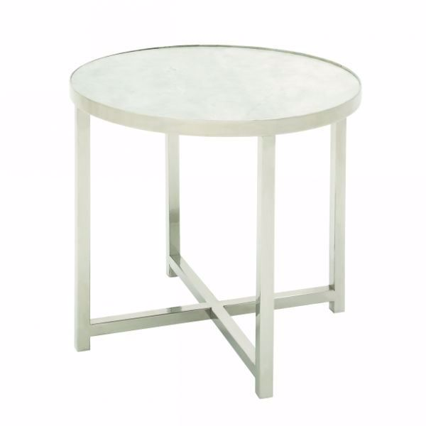 Picture of STEEL AND MARBLE ACCENT TABLE