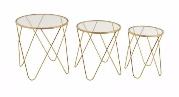 Picture of SET OF 3 ACCENT TABLES