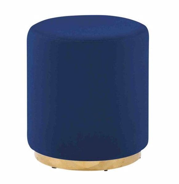Picture of BLUE VELVETEEN STOOL