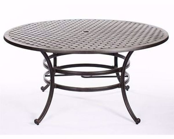 """Picture of CASTLE ROCK 52"""" ROUND DINING TABLE"""