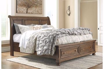 Picture of FLYNNTER KING SLEIGH STORAGE BED