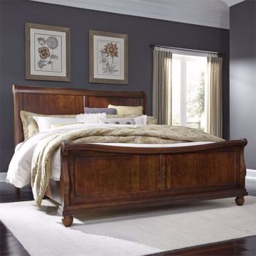 Picture of RUSTIC TRADITIONS KING PANEL SLEIGH BED