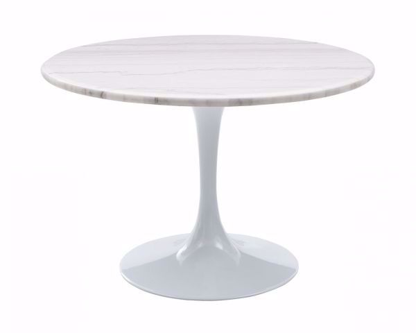 Picture of COLFAX ROUND DINING TABLE WHITE