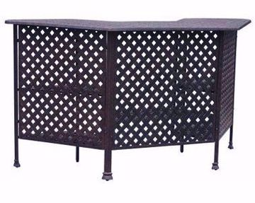 Picture of CASTLE ROCK WEAVE PARTY BAR TABLE BRONZE