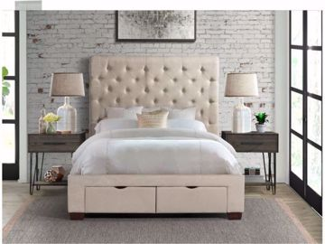 Picture of WALDORF KING UPHOLSTERED BED SAND
