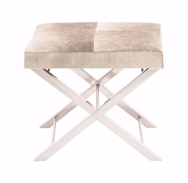 Picture of CHROME AND HIDE STOOL