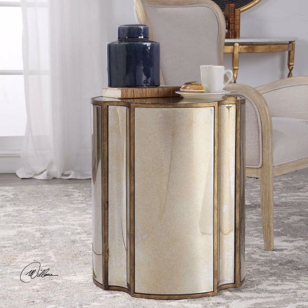 Picture of HARLOW MIRRORED ACCENT TABLE