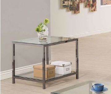 Picture of BLACK NICKEL END TABLE