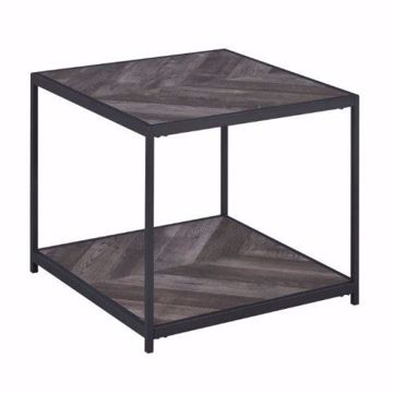 Picture of RUSTIC GRAY END TABLE