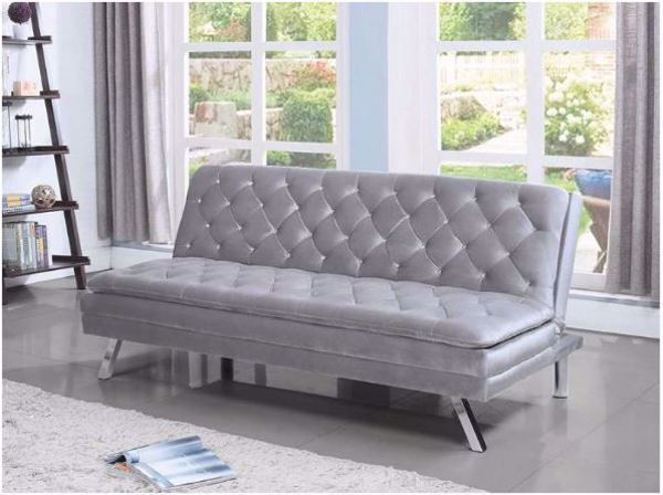 Picture of GREY VELVET FUTON
