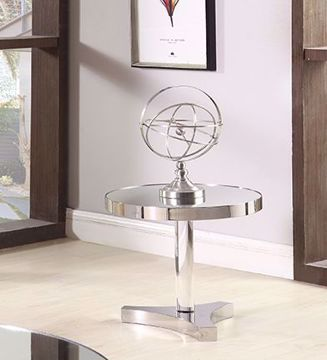 Picture of ROUND MIRRORED END TABLE