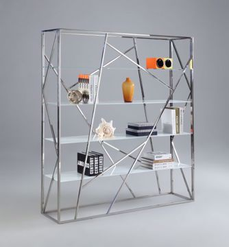 Picture of GEOMETRIC GLASS BOOKCASE