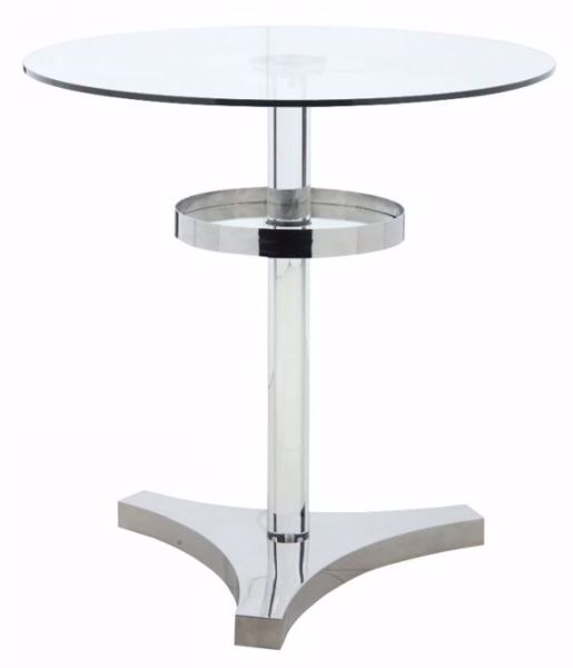 Picture of GLASS COUNTER HEIGHT DINING TABLE