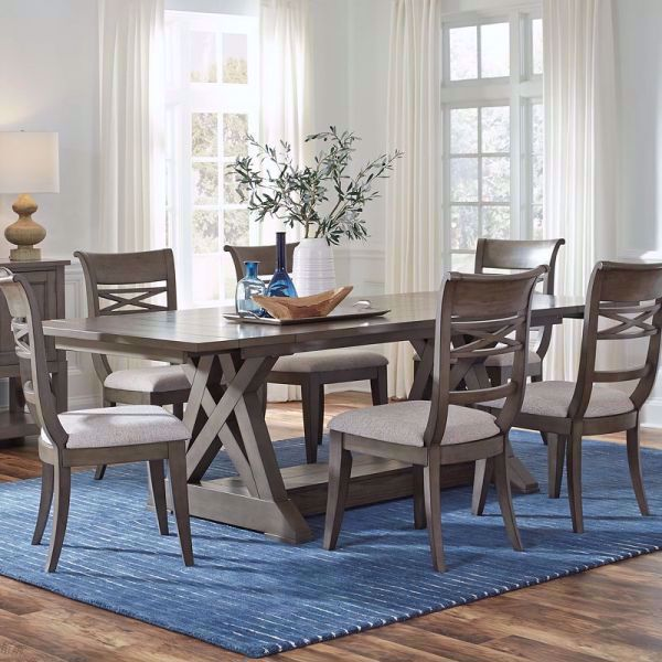 Picture of BECKMAN GRAY TRESTLE TABLE