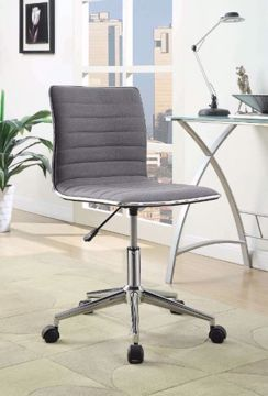 Picture of GRAY & CHROME OFFICE CHAIR