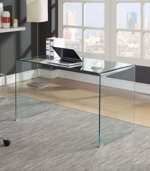 Picture of CLEAR GLASS WRITING DESK