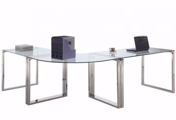 Picture of CLEAR GLASS COMPUTER DESK