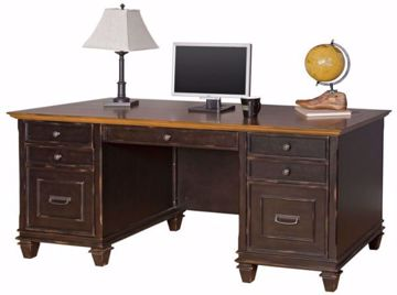 Picture of HARTFORD BLACK DOUBLE PEDESTAL DESK