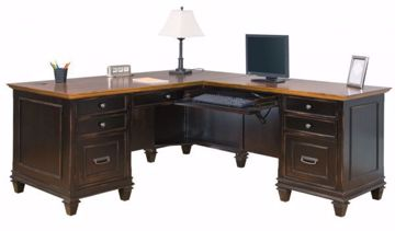 Picture of HARTFORD BLACK L-SHAPED DESK