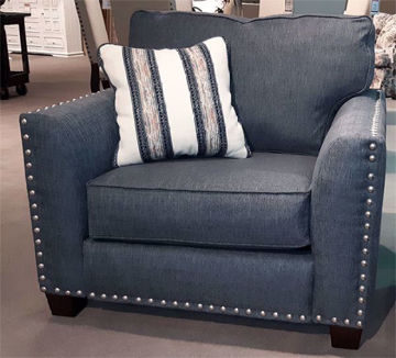 Picture of CARMELLE CHAIR INDIGO