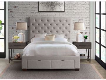 Picture of WALDORF KING UPHOLSTERED BED GREY