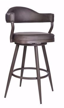 "Picture of JUSTIN 26"" COUNTER STOOL BROWN"