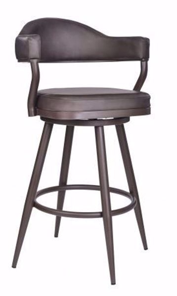 """Picture of JUSTIN 26"""" COUNTER STOOL BROWN"""