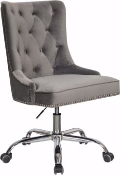 Picture of GRAY VELVET DESK CHAIR