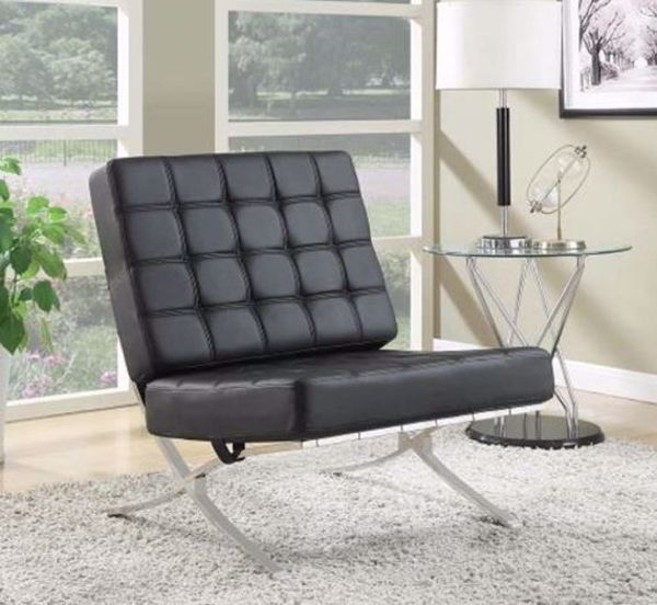Picture of CONTEMPORARY BLACK ACCENT CHAIR