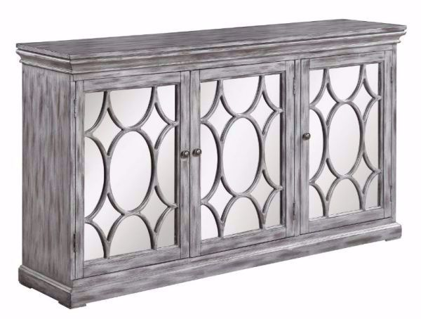 Picture of 3-DOOR LATTICE ACCENT CABINET