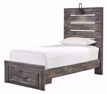 Picture of DRYSTAN TWIN STORAGE PANEL BED