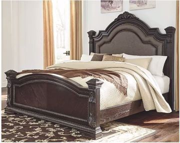 Picture of WELLSBROOK KING UPHOLSTERED POSTER BED
