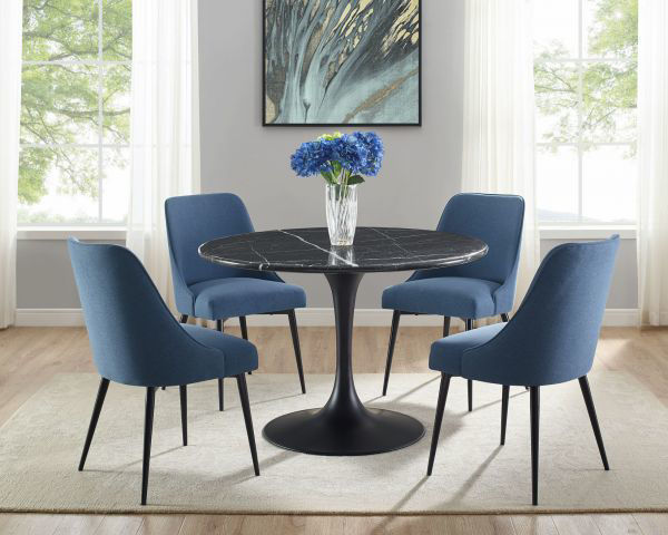 Picture of COLFAX 5 PC. DINING SET BLK/NAVY