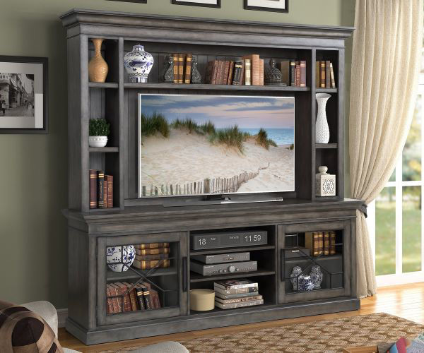"Picture of SUNDANCE 92"" ENTERTAINMENT CENTER SMOKEY GREY"
