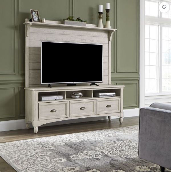 Picture of LAKESIDE ENTERTAINMENT CENTER ANTIQUE WHITE