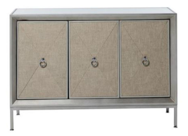 Picture of MIRROR/FABRIC ACCENT CHEST
