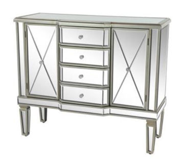 Picture of MIRRORED 2-DOOR CREDENZA