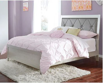 Picture of OLIVET FULL UPHOLSTERED PANEL BED